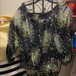INC multicolored blouse